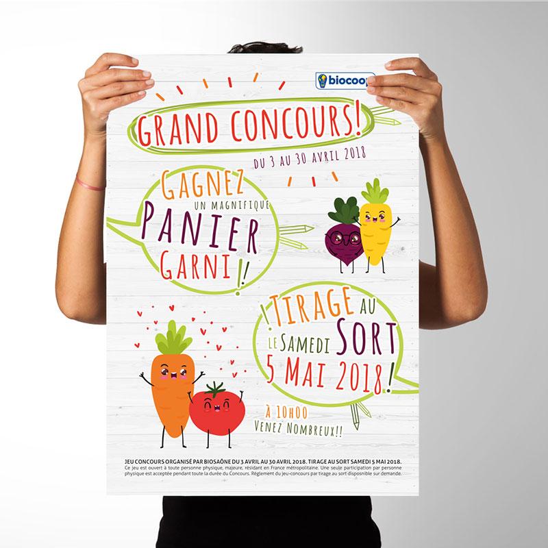 Grand Jeu Concours Biocoop Biosaone AnneCecile Graphic
